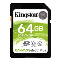 Memorijska kartica KINGSTON Canvas Select Plus SDS2/64GB, SDXC 64GB, Class 10 UHS-I