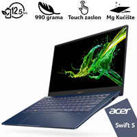 "Prijenosno računalo ACER Swift 5 NX.HHYEX.001 / Core i7 1065G7, 16GB, 512GB SSD, Iris Plus Graphics, 14"" Touch IPS FHD, Windows 10, plavo"