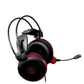 Slušalice AUDIO-TECHNICA Gaming ATH-AG1X, 3,5mm, crno/crvene