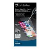 Zaštitno staklo CELLULARLINE, za APPLE iPhone X, crno
