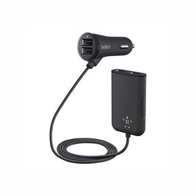 Auto punjač BELKIN Road Rockstar, F8M935bt06-BLK, 4 x USB 2.0, crni