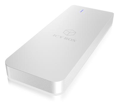 Eksterno kućište ICY BOX IB-188M2, M2 SATA - USB 3.0, LED indikator, srebrna