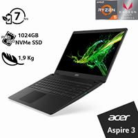 "Prijenosno računalo ACER Aspire 3 NX.HF9EX.02E / Ryzen 5 3500U, 8GB, 1024GB SSD, Radeon RX Vega 8, 15,6"" FHD, Linux, crno"