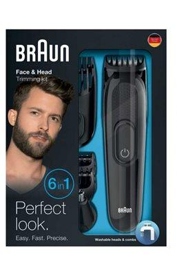 Trimer BRAUN MGK 3020, brada/šišač, 6u1