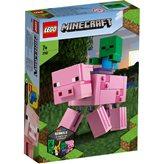 LEGO 21157, Minecraft, Bigfig svinja i mali zombi