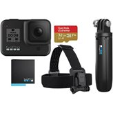 Sportska digitalna kamera GOPRO HERO8 Black Bundle, 4K60, 12 Mpixela + HDR, Touchscreen, Voice Control, HyperSmooth 2.0, GPS