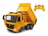 Kamion na daljinsko JAMARA kiper Mercedes Arocs, žuti 1:20