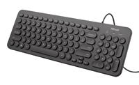 Tipkovnica TRUST Muto Silent, HR layout, crna, USB