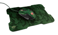 Miš + podloga za miš TRUST GXT 781 Rixa Camo, USB, optički, crni
