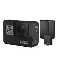 Sportska digitalna kamera GOPRO HERO7 Black, 4K60, 12 Mpixela + HDR, Touchscreen, Voice Control, 3 Axis, GPS + Dual Battery Charge AJDBD-001-EU