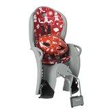 Dječja sjedalica HAMAX Kiss Safety, stražnja montaža na ramu, sivo/crvena + kaciga