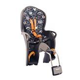 Dječja sjedalica HAMAX Kiss Safety, stražnja montaža na ramu, sivo/narančasta/bijela