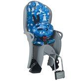 Dječja sjedalica HAMAX Kiss Safety, stražnja montaža na ramu, sivo/plava + kaciga