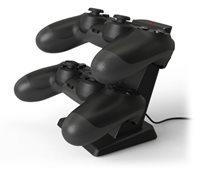Punjač BIGBEN Dual za PS4 kontrolere, dodatna 2 USB porta, crni