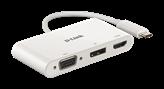 Docking station D-LINK DUB-V310, USB-C na 1x DP, 1x VGA, 1x HDMI, za notebook