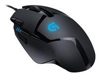 Miš LOGITECH G402 Hyperion Fury, Gaming, DeltaZero, 4000dpi, crni, USB + Podloga za miš, LOGITECH G240, Gaming, platnena, crna