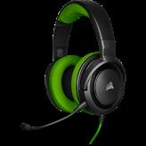 Slušalice CORSAIR HS 35 Gaming, mikrofon, crno/zelene