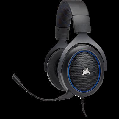 Slušalice CORSAIR HS50 Gaming, mikrofon, crno/plave