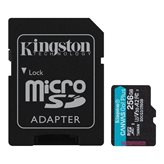 Memorijska kartica KINGSTON Canvas Go Plus Micro SDCG3/256GB, SDXC 256GB, Class 10 UHS-I + adapter