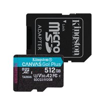 Memorijska kartica KINGSTON Canvas Go Plus Micro SDCG3/512GB, SDXC 512GB, Class 10 UHS-I + adapter