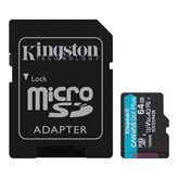 Memorijska kartica KINGSTON Canvas Go Plus Micro SDCG3/64GB, SDXC 64GB, Class 10 UHS-I + adapter