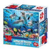 Slagalica HOW Puzzle 3D Dolphine Delight 63kom 31X23 cm