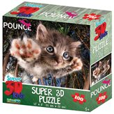 Slagalica HOW Puzzle 3D Mačka Bambam 100kom 31X23cm