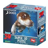Slagalica HOW Puzzle 3D Pas Hunter 100kom 31X23cm