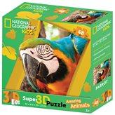 Slagalica NATIONAL GEOGRAPHIC Puzzle 3D Papiga 48kom 31X23cm