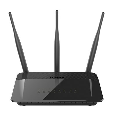 ADSL router USED D-LINK DIR-809, Wireless AC750 Dual Band, 4-port, 802.11b/g/n/ac, 3x antena, bežični