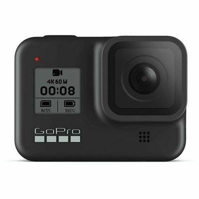 Sportska digitalna kamera GOPRO HERO8 Black, 4K60, 12 Mpixela + HDR, Touchscreen, Voice Control, HyperSmooth 2.0, GPS + Handler