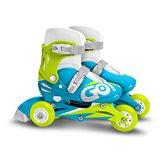 Dječje role STAMP Skids plave, veličina 27-30, 3 kotača/inline, 2u1