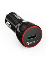 Auto punjač ANKER PowerDrive+ 1, A2210012, 1 USB 3.0 priključka, crni