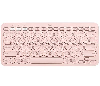 Tipkovnica LOGITECH K380, Bluetooth, kompaktna, roza