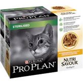 Hrana za mačke PURINA Pro Plan Nutri Savour Sterilized, piletina, 10x85g, za odrasle sterilizirane mačke