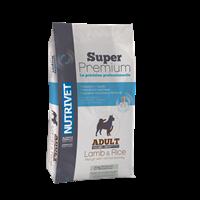 Hrana za pse NUTRIVET Superpremium Adult Lamb & Rice 26/14, hipoalergenska, 15kg, za osjetljive pse