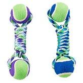 Igračka za pse GIMDOG, Rainbow Twister, dvije tenis loptice na špagi, 25cm