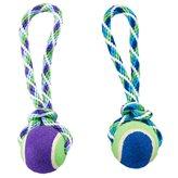 Igračka za pse GIMDOG, Rainbow Twister, tenis loptica na špagi, 25cm