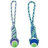 Igračka za pse GIMDOG, Rainbow Twister, tenis loptice na špagi, 40cm
