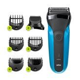 Aparat za brijanje BRAUN S3 310BT, 3u1, crno-plavi
