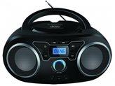 Prijenosni CD radio uređaj MANTA BBX004, FM, USB, MP3, LCD, DC, baterije, crni