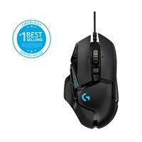 Miš LOGITECH G502 Hero RGB, Gaming, optički, 16000dpi, crni, USB