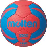 Rukometna lopta MOLTEN H1X3200 vel.2, sint. Koža, crveno/plava