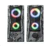 Zvučnici TRUST GXT 608 JAVV RGB Illuminated, 2.0, 12W, crni
