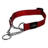Poludavilica za pse ROGZ Reflective Stitching, reflektirajuća, crvena, 40x1,6cm