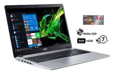 "Prijenosno računalo ACER Aspire 5 NX.HGZEX.005 / Ryzen 5 3500U, 16GB, 512GB SSD, Radeon Vega 8, 15.6"" IPS FHD, Windows 10, srebrno"