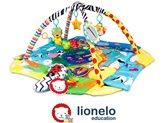 Dječja podloga za igru LIONELO, Anika plus, edukativni madrac, plava