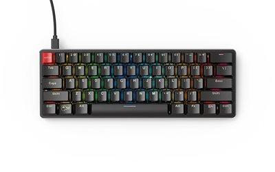 Tipkovnica GLORIOUS PC Gaming Race GMMK, RGB, kompaktna, mehanička, US Layout, crna