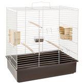 Krletka za ptice FERPLAST Sonia, siva, 46,5x28x54cm