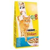 Hrana za mačke PURINA Friskies, losos, 1,5kg, za odrasle mačke